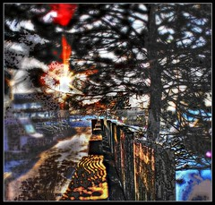 Flattery is the Highest Imitation of Form (Paul B0udreau) Tags: hypothetical winter truck sunset sun stcatharines shockofthenew samsungmaster photomanipulation parkinglot niagara lensflares fujifilmfinepixs1500 fence digitalart cars canada blur artisticphotos vividimagination reality cityart photomatix alteredperception awardtree awardtreespecial