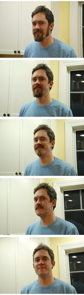 Nate's beard, during and after