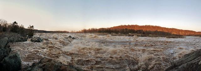8 shot panorama of Great Falls