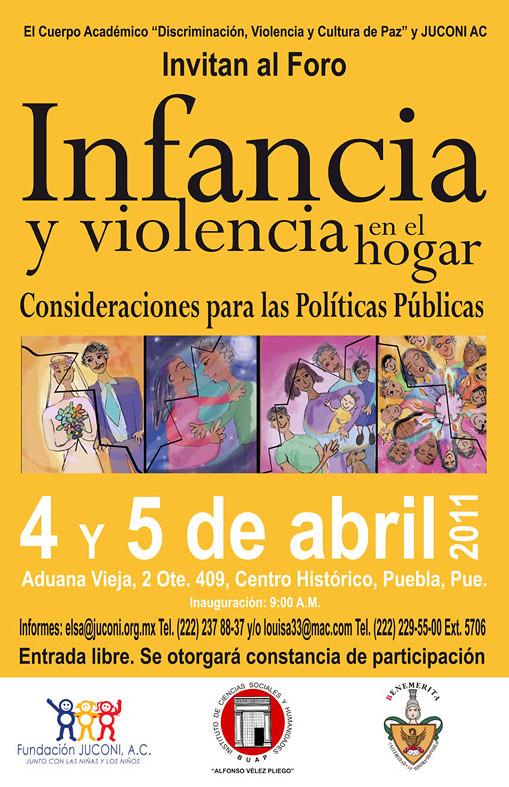 Foro Infancia y violencia en el hogar - Puebla
