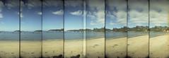 Oban Bay, Stewart Island, New Zealand (Matthew McCutcheon) Tags: sea newzealand sky film 35mm matt lomo lomography supersampler sand aperture kodak matthew epson quintin overlap stewartisland v700 mccutcheon epsonv700