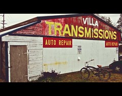 Auto transmission repair shop () Tags: auto urban usa building classic sign shop architecture america vintage mom photography photo washington store cool interesting automobile view state northwest unique united picture pop retro business faded photograph repair sound rockabilly americana service local tacoma states lakewood roadside viewpoint transmission puget greaser oldfashioned 253 hokey