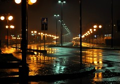 rainy night (annibale barone) Tags: city nightphotography blue rain clouds jaune light