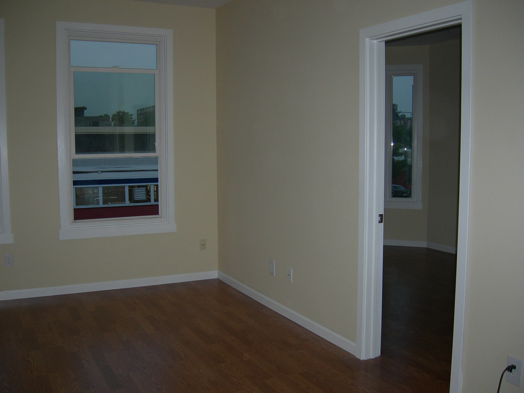 After (new flooring, trim & baseboards)