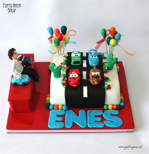Şimşek mcQueen  cake- enes