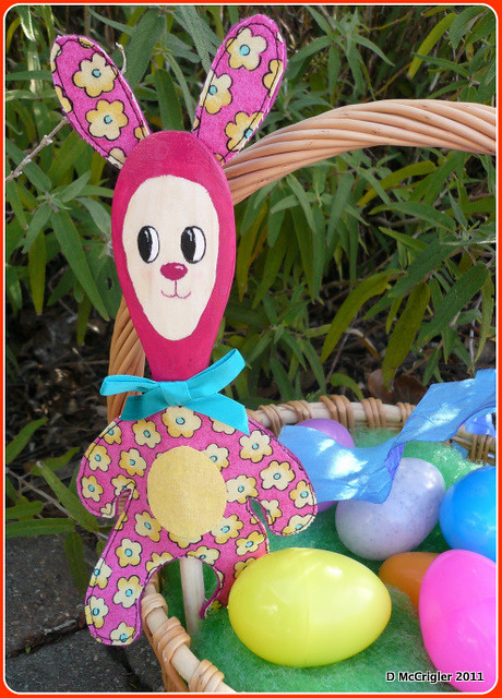 Wooden Spoon Bunny Puppet