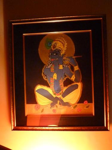 Blue Krishna by French artist & illustrator Elise