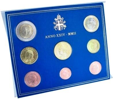 Oficiálna sada 8 Euro mincí Vatikán 2002