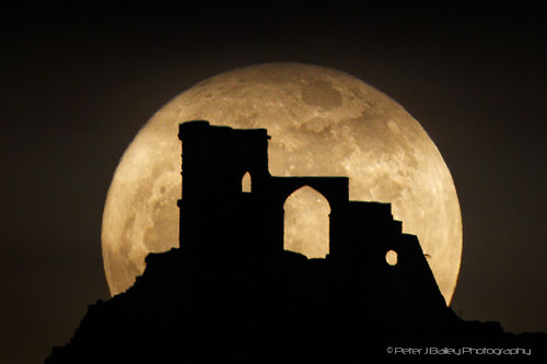 Super Moon and Mow Cop by peterjbailey