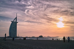 Burj Al Arab at twilight (spiraldelight) Tags: dubai uae sigma burjalarab foveon jumeirahbeach      dp2s sigmadp2s  thomaswillswright