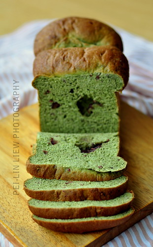 Whole-Wheat Tangzhong Matcha-and-Azuki-Bean (Bread) Loaf