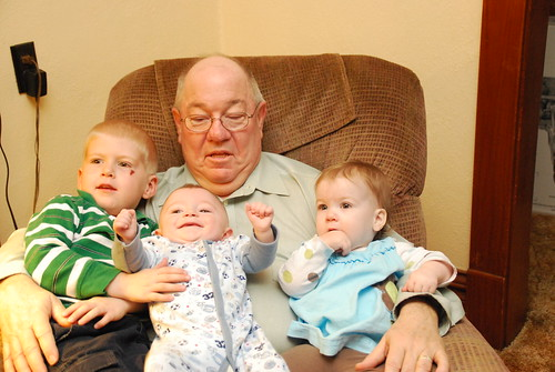 Grandpa Dave with his grandkids