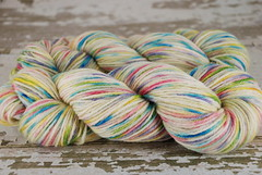 """Snow Garden""3.5oz  AB BFL (DK/Light Worsted)"