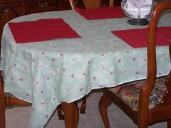 ladybug table cloth