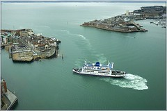 Portsmouth Harbour Birds Eye (fstop186) Tags: old seascape car ferry canon ship view harbour entrance panoramic isleofwight wightlink portsmouth spinnakertower 5d passenger birdseyeview gosport spiceisland ef35mmf2 sthelen cameracamaraderie