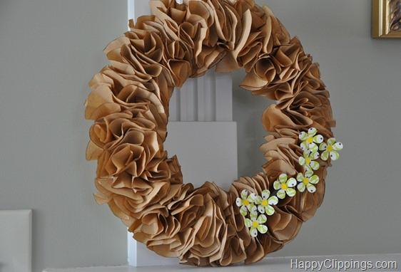 Kraft Paper Spring Wreath
