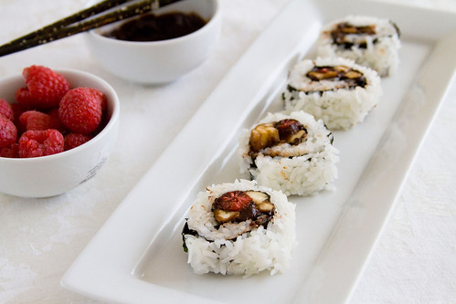 Raspberry and Banana Sushi - 73