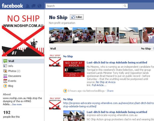 No Ship Facebook group page