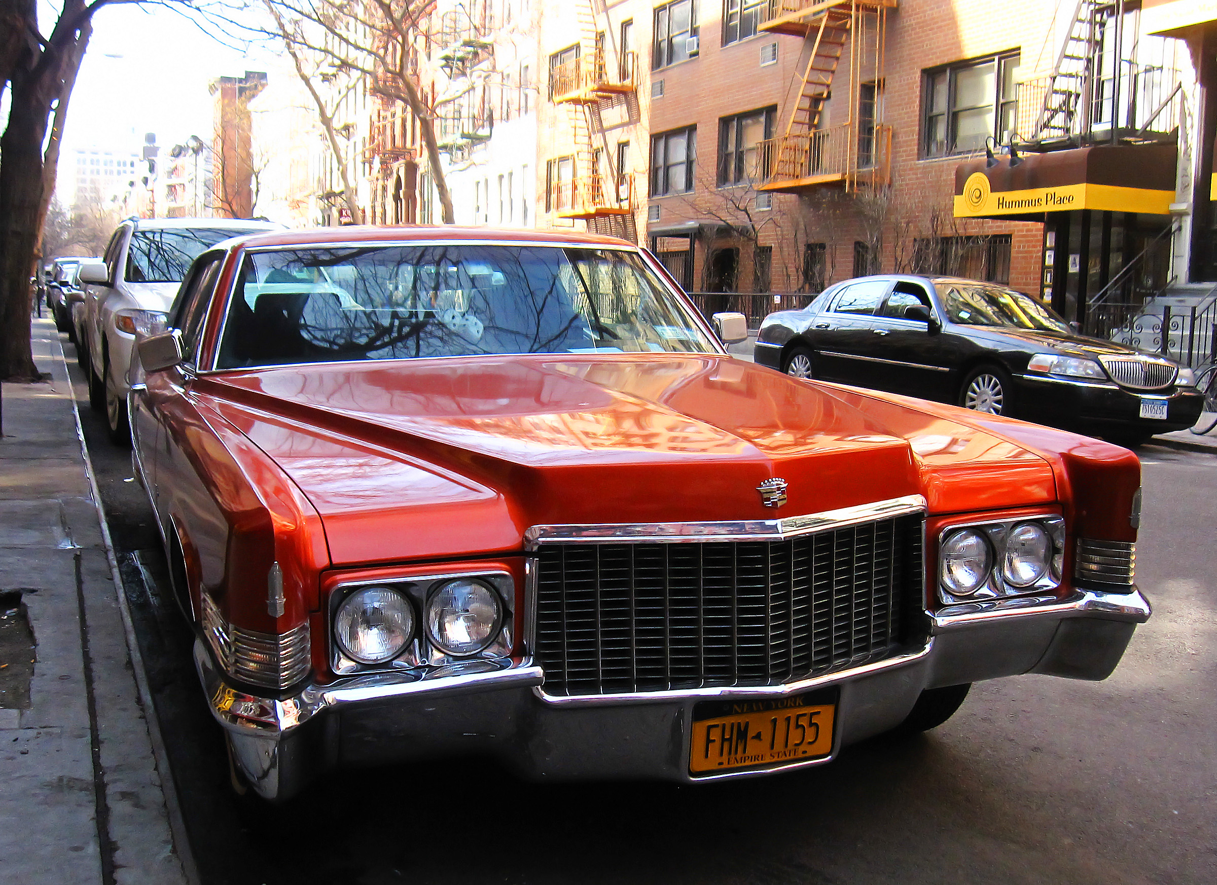 Red Caddy with dice