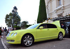 Lime-green! (AxelVeraartPhotography) Tags: people hot color colour sexy green strange spur flying nikon cotedazur limegreen rich continental babe f1 montecarlo monaco special lime formule1 bentley vr 18105 carspotting flyingspur d90 veraart axèl axèlveraart