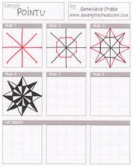 Tangle: Pointu (Amaryllis Creations) Tags: tangle zentangle