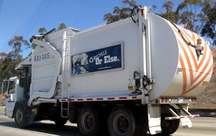 White Waste Removal Truck (Photo Nut 2011) Tags: california trash truck garbage junk sandiego freeway waste refuse sanitation garbagetruck trashtruck wastedisposal 823005