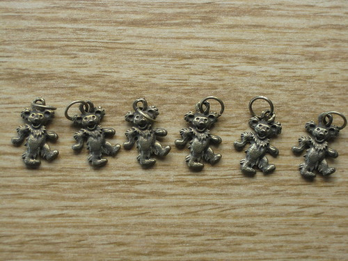 Dancing bear stitch markers