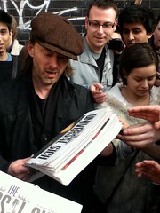 "Thom Yorke @ ""The Universal Sigh"" Distribution Point, London 5 (LongstantonSpiceMuseum) Tags: newspaper thomyorke radiohead thekingoflimbs theuniversalsigh"