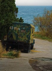 43-81 KPO (Khuroshvili Ilya) Tags: auto winter sea urban streets abandoned car canon vintage landscape ukraine vehicle portfolio crimea blacksea ua militarytruck nvbr nvbr11