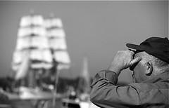Awaiting the tallships to sail in (Guido Havelaar) Tags: blackandwhite bw holland netherlands monochrome blackwhite sailing zwartwit monotone sail schwarzweiss pretoebranco ijmuiden neroeblanco