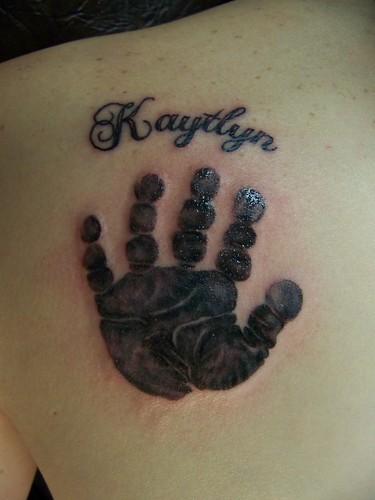 baby handprint tattoos. Baby Hand Print Tattoo