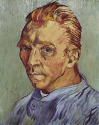 van gogh Retrato del artista sin barba