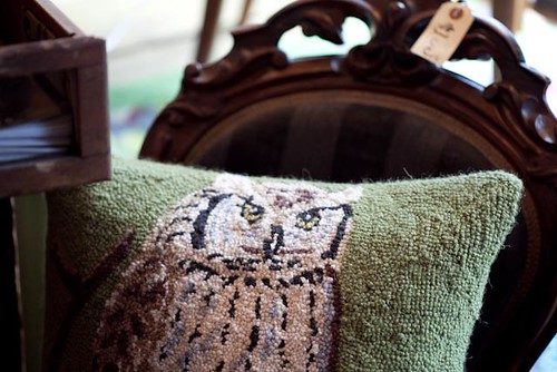hook owl pillow