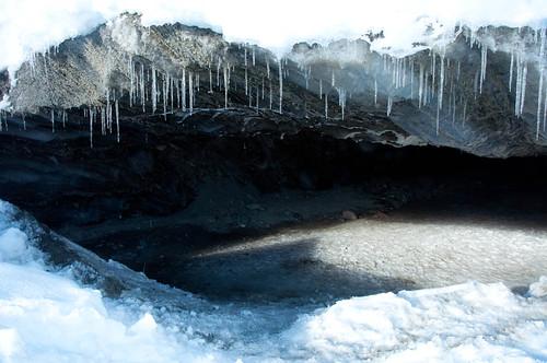 Castner Glacier Cave Entrance