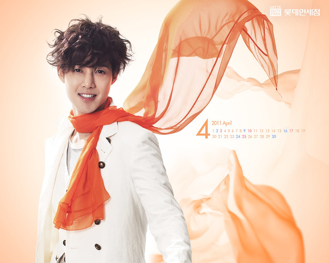 Kim Hyun Joong Lotte Duty Free April 2011 Calendar Wallpapers