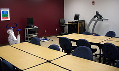 A view of a Health Sciences Building classroom.
