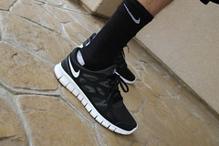 (Never Wear Them) Tags: 2 white black grey shoes free running run nike v3 v7 v5