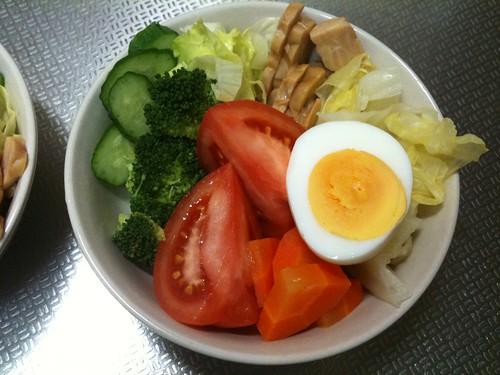 朝食サラダ(2011/4/7)