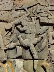 Crocodile Eating a Man (hobgadlng) Tags: temple cambodia carving siemreap bayon favescambodia2013