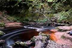 Flow (Ian D) Tags: fujixt2 finnichglen devilspulpit scotland burn stirlingshire water fuji fujifilm carnockburn