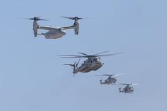 (Trent Bell) Tags: aircraft mcas miramar airshow california socal 2016 magtf demo mv22 osprey ah1z viper uh1y venom bell superhuey helicopter