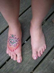 birthday tattoo (kaseycole) Tags: tattoo lotus