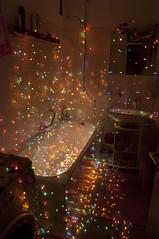 colorful indoor rain (FDU4) Tags: longexposure light lightpainting colors dark painting bathroom bath colorful indoors