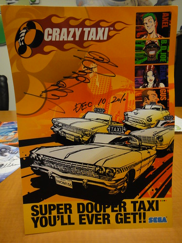 Crazy Taxi Signed Art