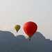 Hot air balloons in Vang Vieng, Laos