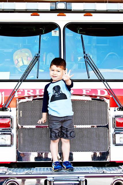 4yo Fire station birthday party fire truck