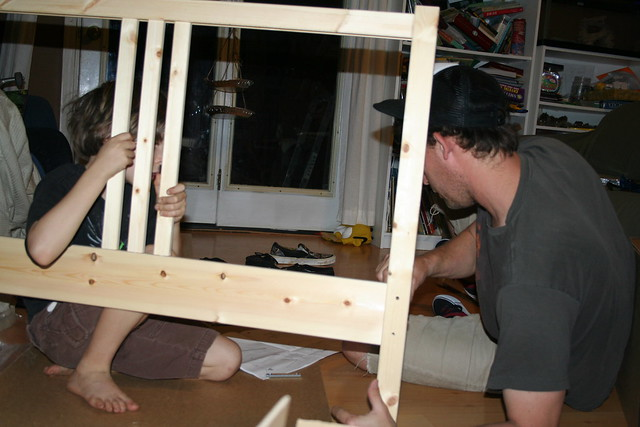 Seth & Matt building Maya's bed