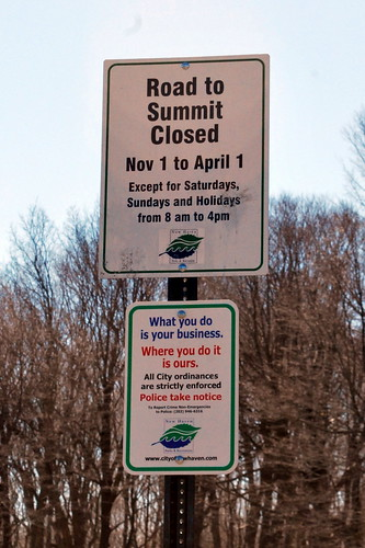 East Rock Park Summit Sign