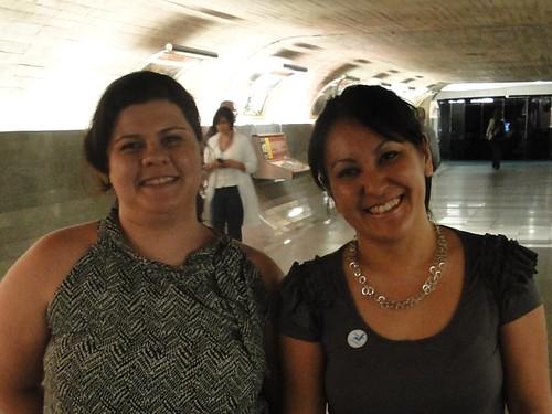 Eu e @juvilela no Túnel do Tempo do Senado em setembro de 2010