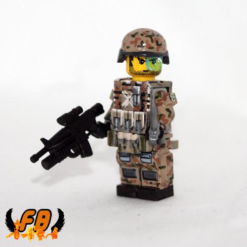 Custom minifig Modern Warrior Concept